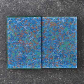 Suede Notebook with Marbled...