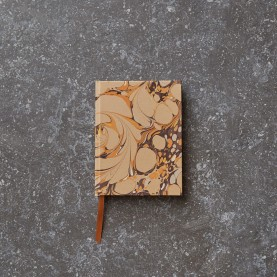 Pocket-Sized Marbled Notebook