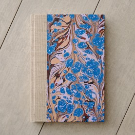 Marbled Notebook with Linen...